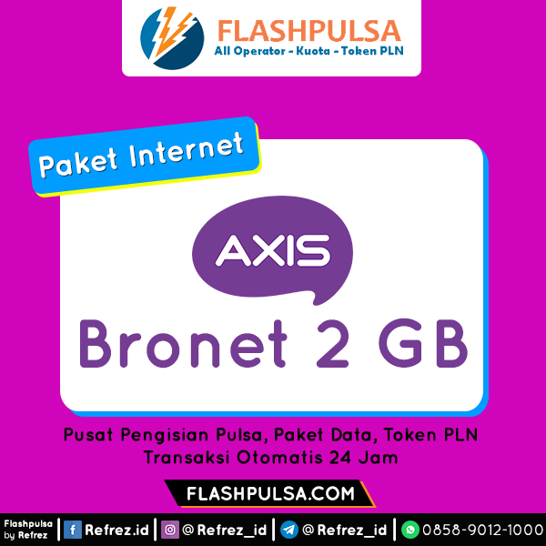 Paket Internet AXIS BRONET 24 Jam - BRONET Quota 24jam 2GB 30Hari