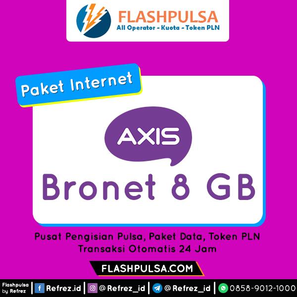 Paket Internet AXIS BRONET 24 Jam - BRONET 24Jam 8GB 30Hari