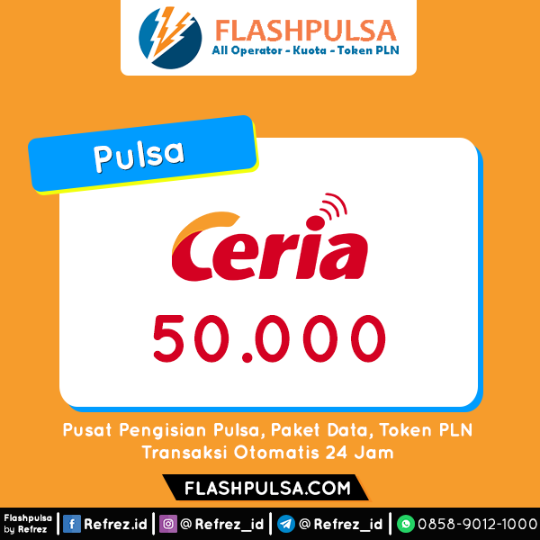 Pulsa Ceria Pulsa - Ceria 50.000