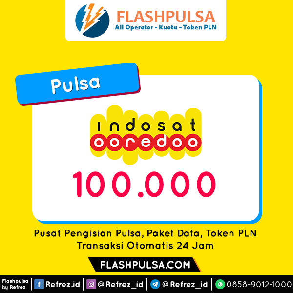Pulsa Indosat Pulsa - Indosat 100.000