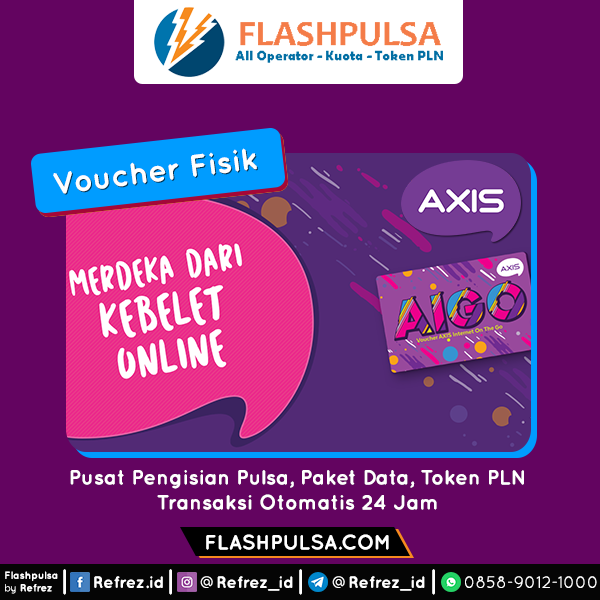 Voucher DATA Axis Aigo Voucher - 5GB 24 JAM 30HR